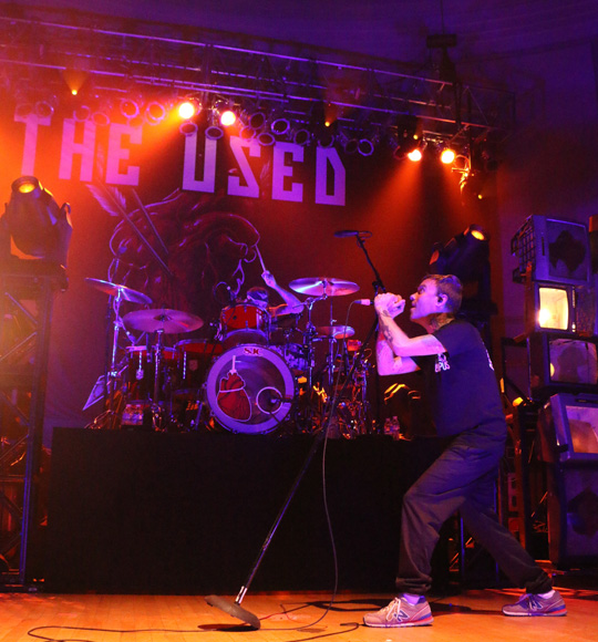 Dan Whitesides, left, Bert McCracken, right, of The Used perform at the War Memorial Auditorium in Nashville, Tenn. on Tuesday, May 5, 2015. The show was the band's second stop on a co-headlining tour with Chevelle. (MTSU Sidelines / John Connor Coulston)