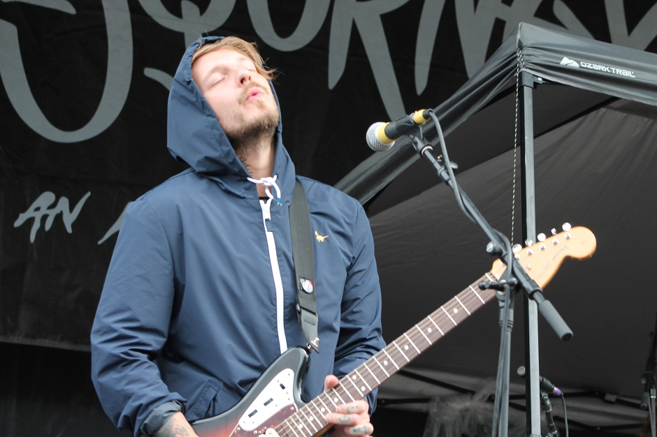 Mark Osbourne of Moose Blood performs during the Nashville, Tennessee stop of the Vans Warped Tour on July, 1, 2015. (MTSU Sidelines / Savanna Hazlewood)