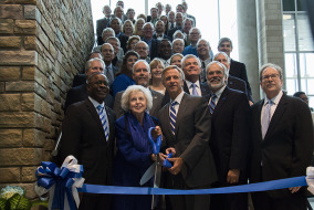 Dignitaries at a ribbon-cutting ceremony for MTSU's new Science Building on Wednesday morning.  Photo by Max Smith MTSU Sidelines News Editor