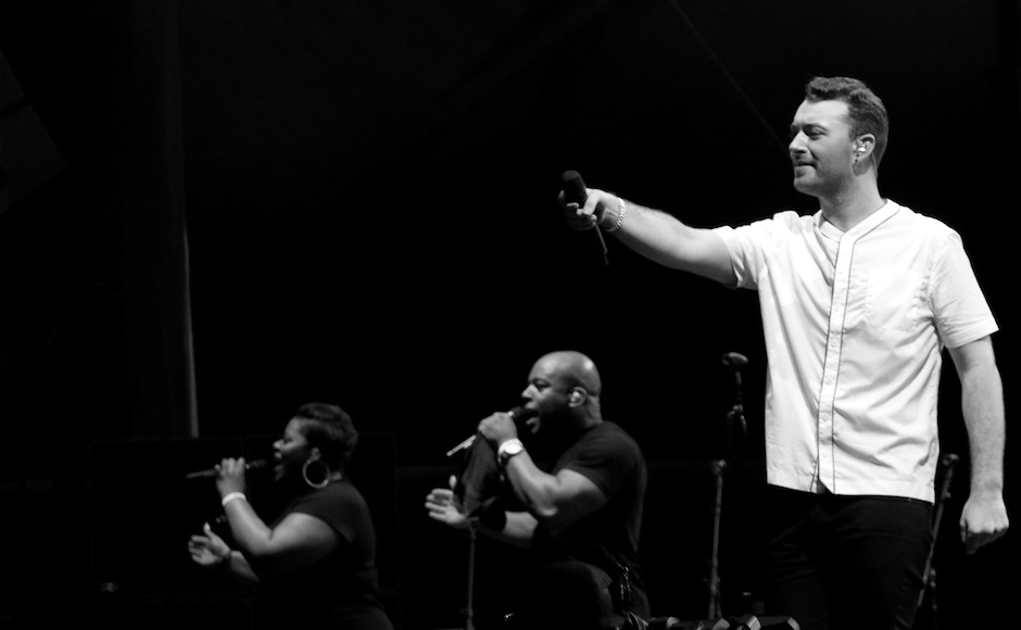 Sam Smith performs at the Forecastle Festival in Louisville, Ky., on Friday, July 17, 2015. (MTSU Sidelines / Dylan Skye Aycock)