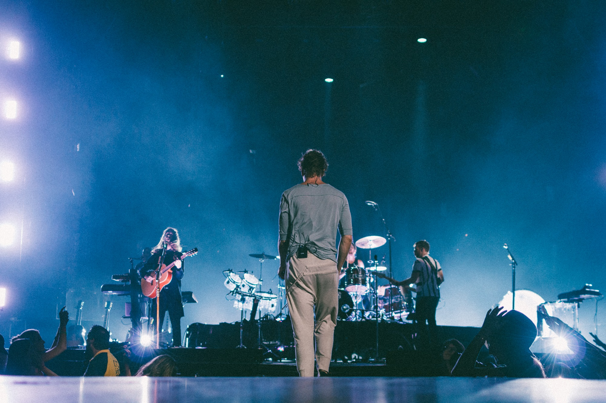 """Imagine Dragons perform at Bridgestone Arena in Nashville, Tenn. on Wednesday, June 8, 2015, The performance was part of the band's """"Smoke + Mirrors"""" tour. (MTSU Sidelines / Andre Rowlett)"""