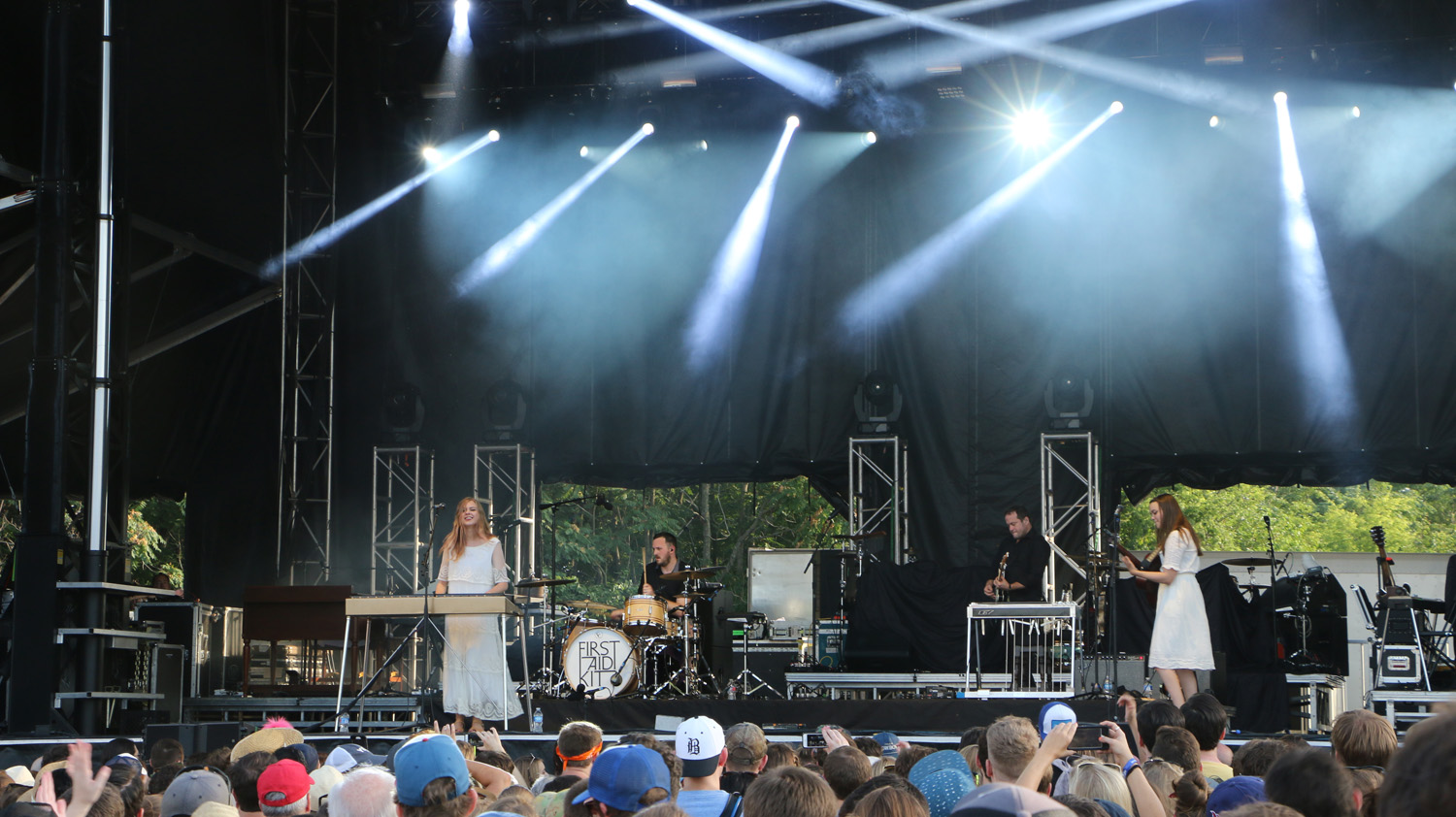 First Aid Kit performs at the Sloss Music & Arts Festival in Birmingham, Ala., on Saturday, July 18, 2015. (MTSU Sidelines / John Connor Coulston)