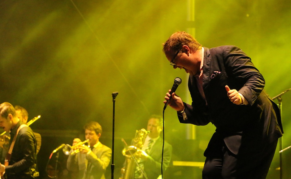 Paul Janeway of St. Paul and the Broken Bones performs at the Sloss Music & Arts Festival in Birmingham, Ala., on Sunday, July 19, 2015. (MTSU Sidelines / John Connor Coulston)