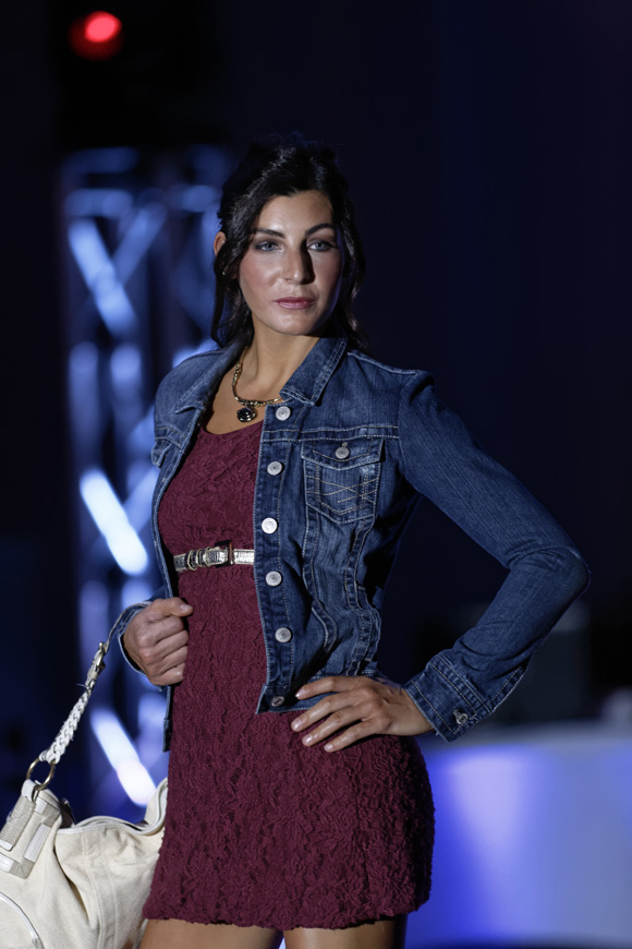 """Amanda Styles models during the """"Dressed to Give Fashion Affair"""" at Stones River Country Club in Murfreesboro, Tenn. on Saturday, Nov. 22, 2014. The event was a fundraiser for Helping Hands Worldwide Services. (MTSU Sidelines/Greg French)"""