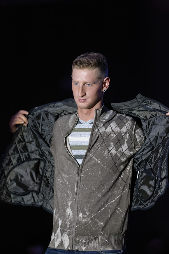 """Zack Cox models during the """"Dressed to Give Fashion Affair"""" at Stones River Country Club in Murfreesboro, Tenn. on Saturday, Nov. 22, 2014. The event was a fundraiser for Helping Hands Worldwide Services. (MTSU Sidelines/Greg French)"""