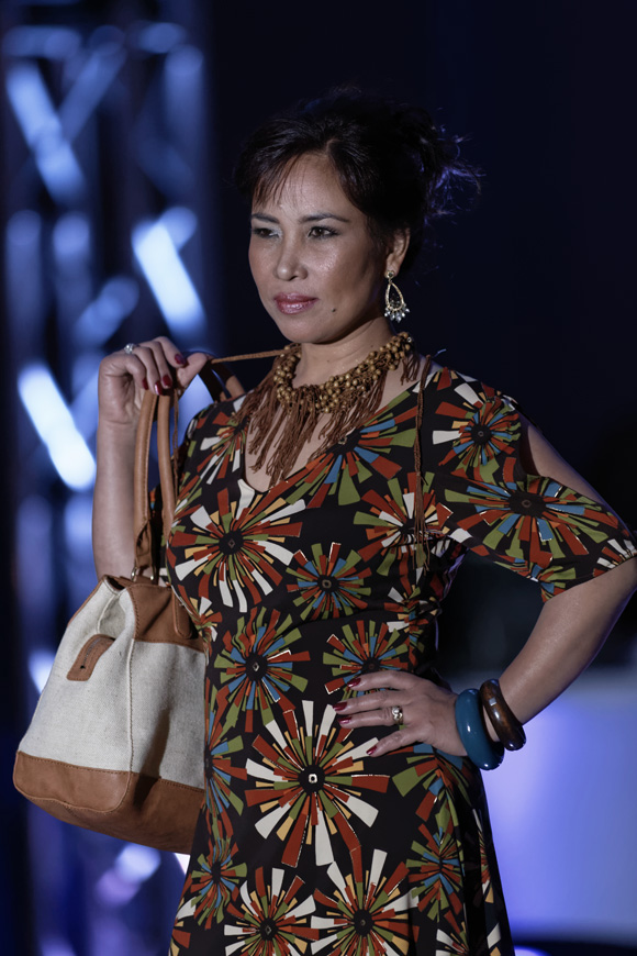 """Luz Vasquez Carlton models during the """"Dressed to Give Fashion Affair"""" at Stones River Country Club in Murfreesboro, Tenn. on Saturday, Nov. 22, 2014. The event was a fundraiser for Helping Hands Worldwide Services. (MTSU Sidelines/Greg French)"""