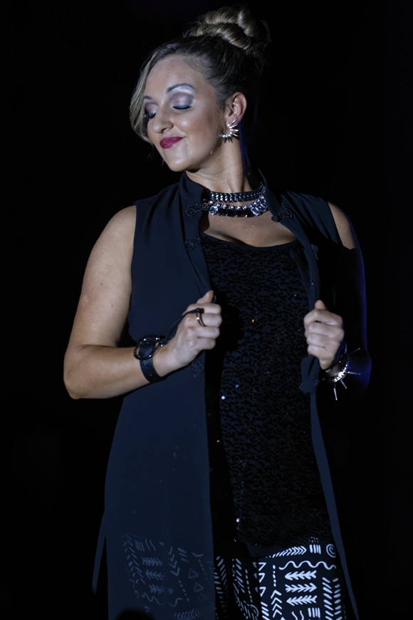 """Megan Davenport models during the """"Dressed to Give Fashion Affair"""" at Stones River Country Club in Murfreesboro, Tenn. on Saturday, Nov. 22, 2014. The event was a fundraiser for Helping Hands Worldwide Services. (MTSU Sidelines/Greg French)"""