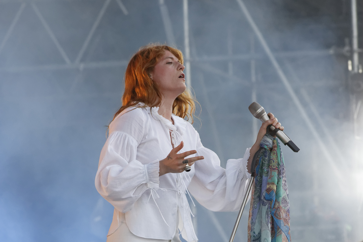 Florence Welch performs with the Machine at the Bonnaroo Music and Arts Festival in Manchester, Tenn. on Sunday, June 14, 2015. (MTSU Seigenthaler News Service / Gregory French)