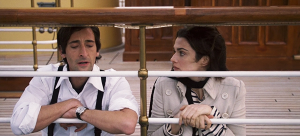 Adrian Brody and Rachel Weisz in The Brothers Bloom (2008)