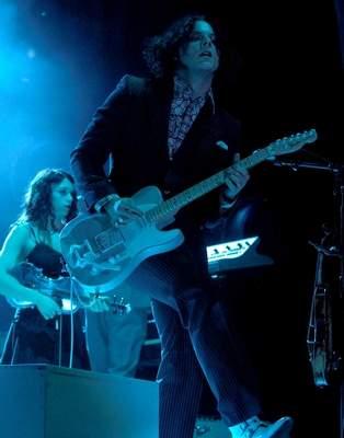 Jack White plays his Saturday night headlining set at Bonnaroo Music and Arts Festival. / Brett Turner