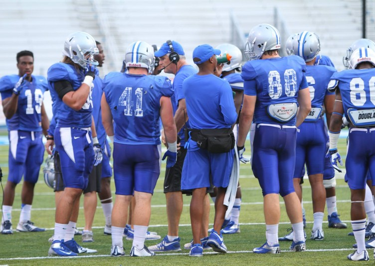 Photo from Blue Raider Athletics Facebook, August practice.