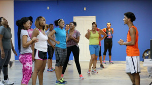 "MTSU student Jay Conn speaking to his ""twerkettes"" at C.O.D.E. Jay Fitness in East Nashville on Wednesday, August 20th Photo by David Taylor MTSU Sidelines Contributing Writer"