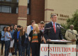 Tenn. Secretary of State Tre Hargett speaks to MTSU students on Constitution Day.   Photo by Andre Rowlett.