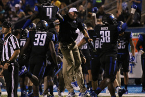 The Blue Raiders took down WKU Hilltoppers on Saturday night. The game ended 50-47 in 3OT.  Photo by R.J. Estrella MTSU Sidelines Staff Photographer