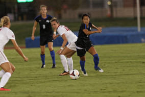 MTSU Blue Raider soccer faced Alabama's Crimson Tide on Sunday night in the Blue Raider's first home game of the season.  Photos by Greg French MTSU Sidelines Staff Photographer