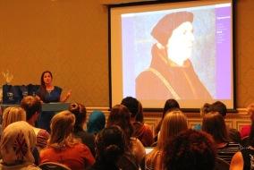 Amanda Farris-Gilliland speaking to MTSU students. Photo by Chelsea Babin