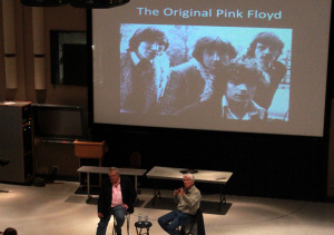 Jenner, who helped discover the original Pink Floyd, spoke to MTSU students on Oct. 21. Photo by Bing-Nan Li.