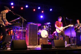 Jeremy Robertson plays at MTSU on Friday, Oct. 17.  Photo by Carly Marmen.