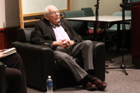 Harry Rosenfeld, Holocaust survivor and former managing editor of The Washington Post, spoke to MTSU students on Oct. 8.