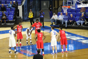 The MTSU men's basketball team played an exhibition game against Martin Methodist on Nov. 10. Photo by Samantha Hearn.