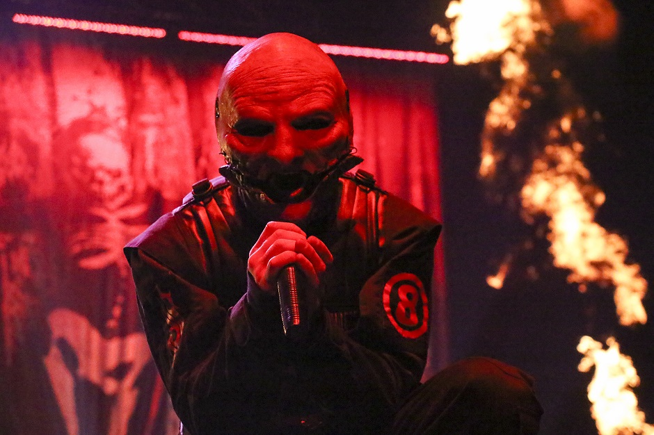 """Slipknot frontman Corey Taylor performs at Bridgestone Arena in Nashville, Tenn. on Friday, Nov. 22, 2014. The band was playing a headlining show on their """"Prepare for Hell"""" Tour. (MTSU Sidelines/Matt Masters)"""