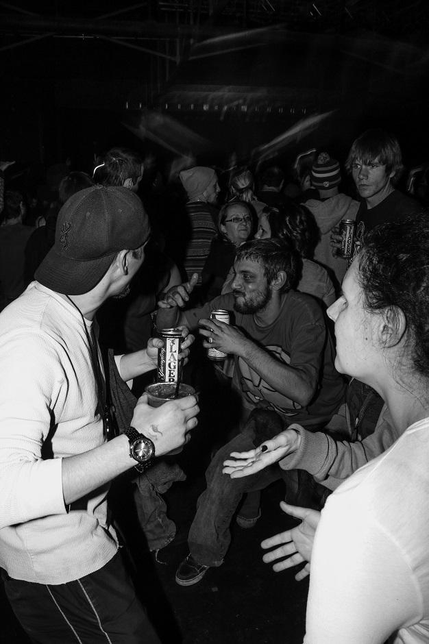 "Fans during Yelawolf's set at Marathon Music Works in Nashville, Tenn. on Tuesday, Dec. 21, 2014. Nashville was the final stop of his ""Slumerican Made"" tour. (MTSU Sidelines/Matt Masters)"