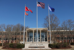 The Cope Administration building on Wednesday, Jan. 21, 2015. The building underwent a 10-month project to repair and renovate the 51-year-old structure. (MTSU Sidelines/Samantha Hearn)