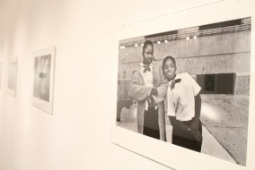 """Harvey Stein's """"Harlem Street Portraits"""" will be on display at the Baldwin Photographic Gallery until Thursday, Feb. 26, 2015. Stein will speak in room 103 of the John Bragg Mass Communication Building on Thursday, Feb. 5, 2015."""