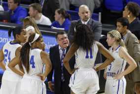 Middle Tennessee's Blue Raider women's basketball faced Southern Mississippi on Thursday, January 15 in Murphy Center. The Blue Raiders fell to Southern Miss 77-75 in overtime after a close game. (Greg French/MTSU Sidelines)