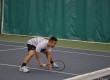Victor Hoang plays at the tennis match against Jackson State on Friday, Jan. 30. 2015. Hoang is an exchange student from Mississauga, Ontario. (MTSU Sidelines/Grant Massey)