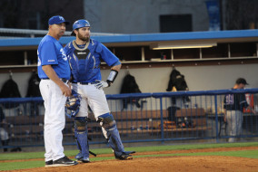 Middle Tennessee's Blue Raiders fail to find answers in their 8-1 loss to Libscomb on Wednesday March 24, 2015.