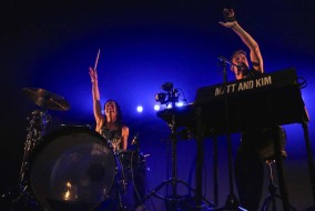 Kim Schifino, left, and Matt Johnson, right, of Matt & Kim perform at Marathon Music Works in Nashville, Tenn. on Saturday, May 9, 2015. The band is on tour in support of their fourth album. (MTSU Sidelines /Dylan Skye Aycock)