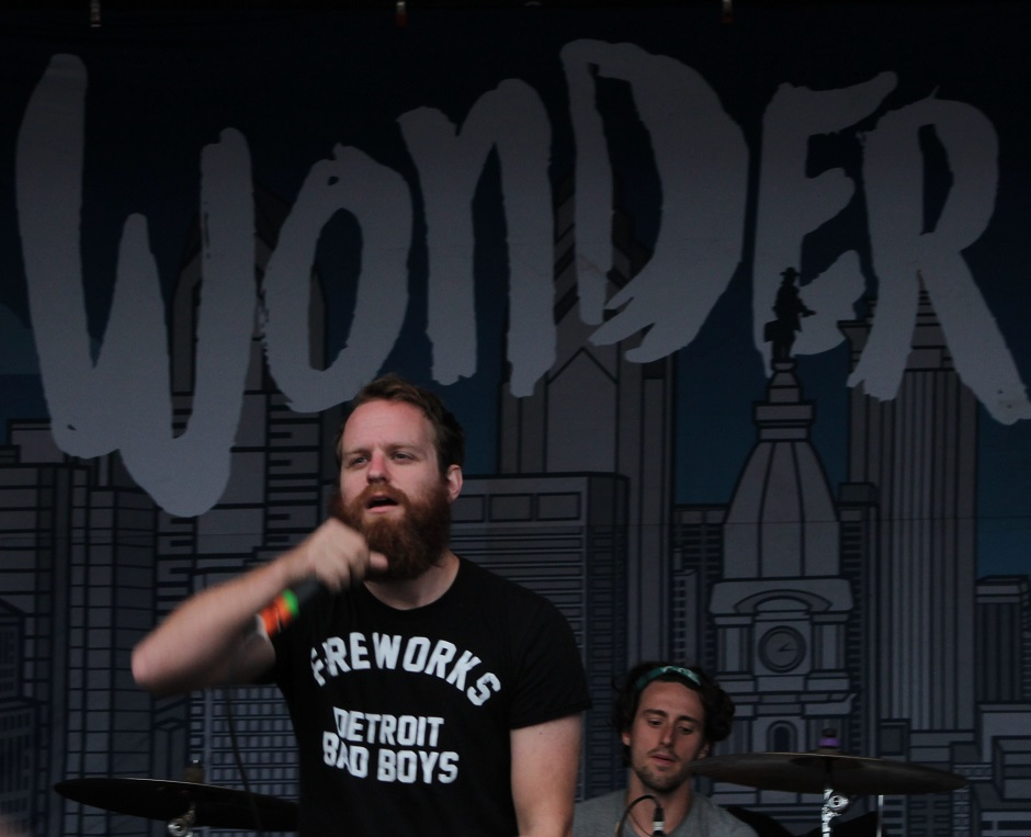 "Dan ""Soupy"" Campbell of The Wonder Years performs during the Nashville, Tennessee stop of the Vans Warped Tour on July, 1, 2015. (MTSU Sidelines / Savanna Hazlewood)"