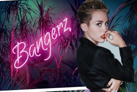 "The album artwork for Miley Cyrus' ""Bangerz"" (FILE)"