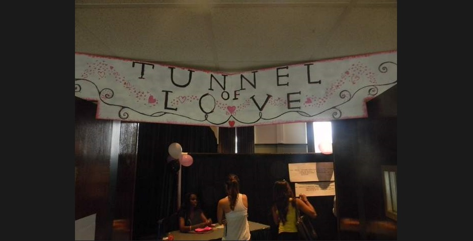 "Students enter the ""Tunnel of Love"" educational fair at MTSU's James Union Building to learn about the risks of sexually transmitted infections on Thursday, September 19, 2013. (MTSU SIdelines / John Connor Coulston)"