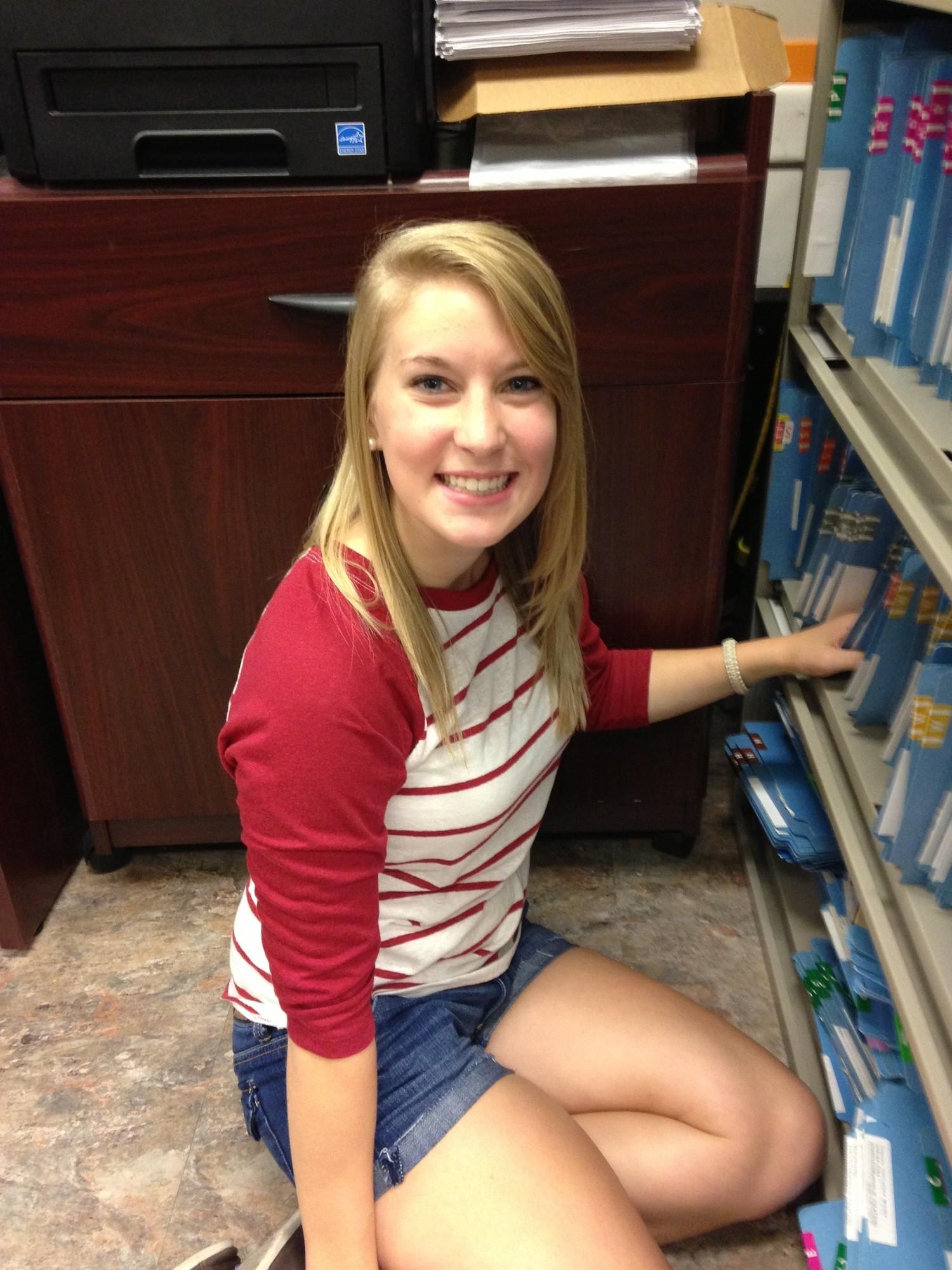 """I like it, but it's a lot to take in. But it's a lot of fun,"" says freshman Haley Hofferbert. (MTSU SIDELINES / John Connor Coulston)"
