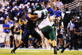 """The MTSU Blue Raiders defeated the Charlotte 49ers on Saturday, September 19th at the Johnny """"Red"""" Floyd Stadium in Murfreesboro, TN (MTSU Sidelines/Meagan White)."""