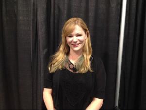 Jenna Busch before presenting her panel at Wizard World. (MTSU Sidelines/Tanner Dedmon)
