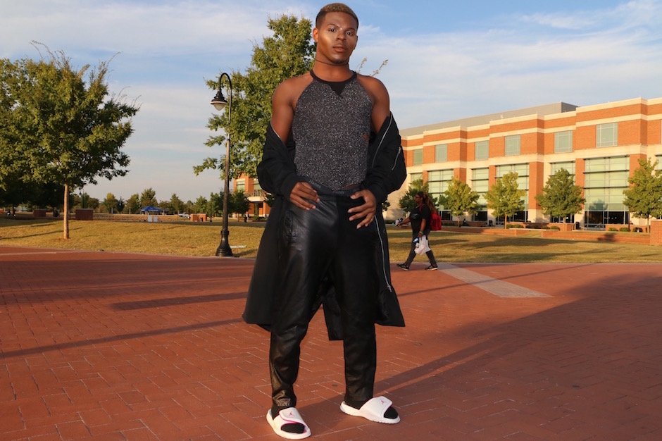 Anthony Mitchelle shows off his style on MTSU's campus in Murfreesboro, Tenn. on Tuesday, October 4, 2016. (MTSU Sidelines/ Aliyah Lyons)