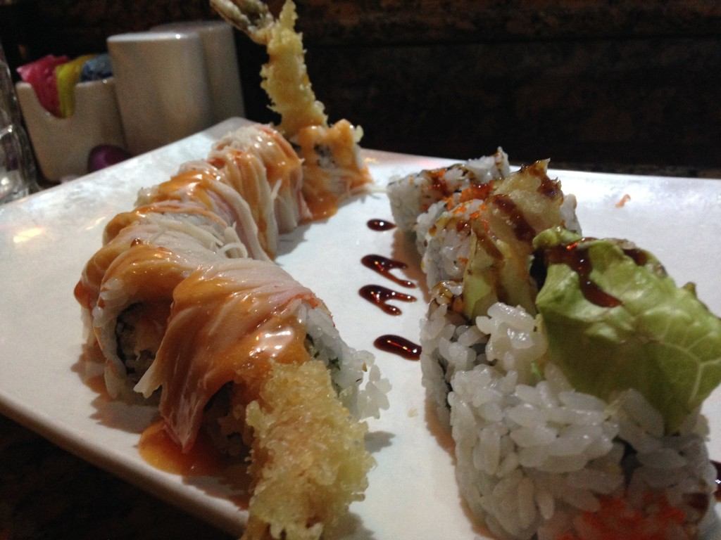 Two sushi roll from Cathay Asian Bistro in Murfreesboro, Tenn. MTSU Sidelines / John Connor Coulston)